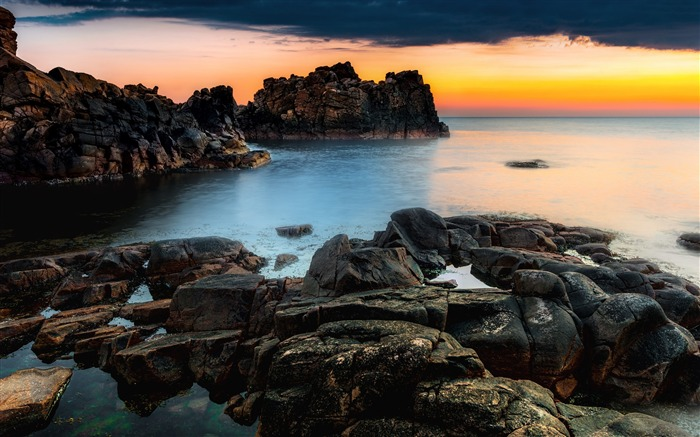 Sweden beach ocean sunset-Nature Photo HD Wallpaper Views:1965