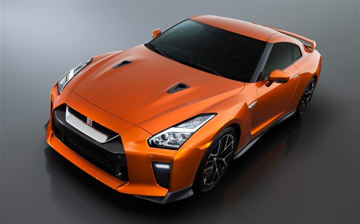 2017 Orange Nissan GTR Auto HD Wallpaper Views:13672