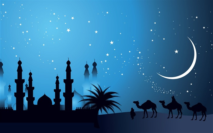 Arabian night-Vector Art Design HD Wallpaper Views:2021
