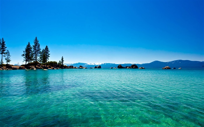 Blue sky lake tahoe-HDR Photo HD Wallpaper Views:2406