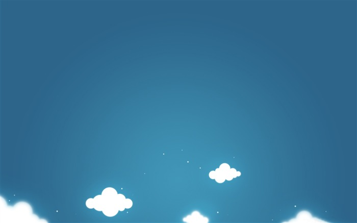 Cartoon clouds blue sky-Vector Art Design HD Wallpaper Views:2234