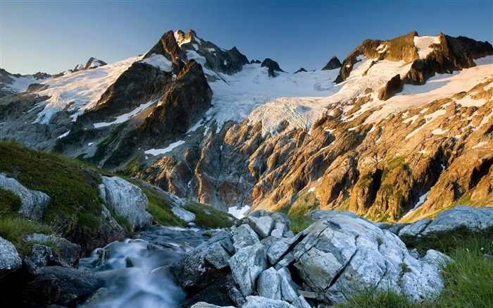 Dome peak glacier wilderness-HDR Photo HD Wallpaper Views:1880