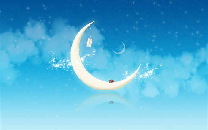 Goodnight moon-Vector Art Design HD Wallpaper Views:1703