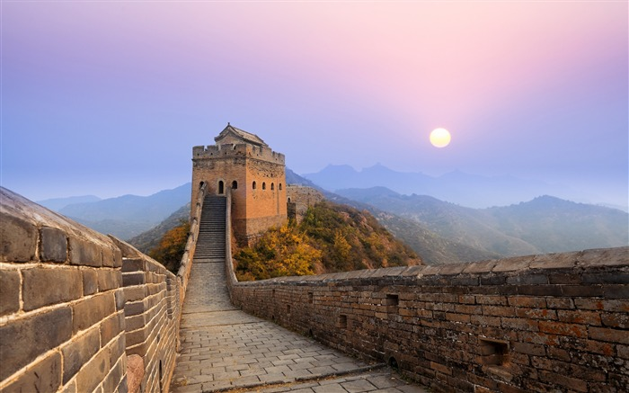 Great Wall China Sunrise-High Quality HD Wallpaper Views:1862