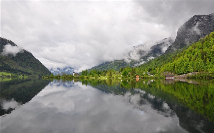 Grundlsee lake austria-High Quality Wallpaper Views:1829