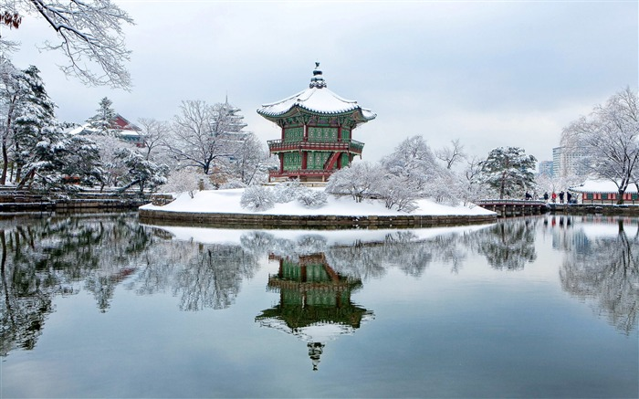 Gyeongbok palace south korea winter-High Quality Wallpaper Views:2037
