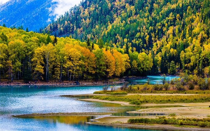 Kanas Lake Xinjiang China Travel Photo HD Wallpaper Views:15052