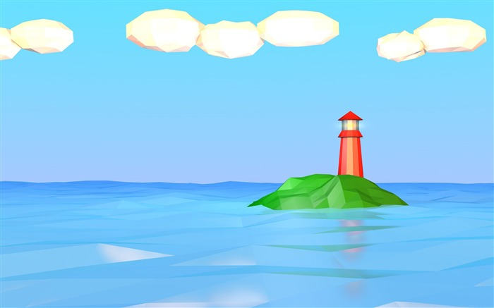 Low poly lighthouse-Vector Art Design HD Wallpaper Views:1630