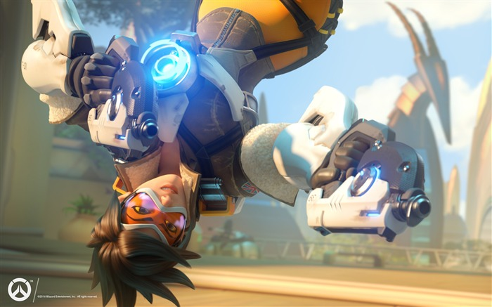 Overwatch Tracer 2016 Game HD Desktop Wallpaper 01 Views:5166