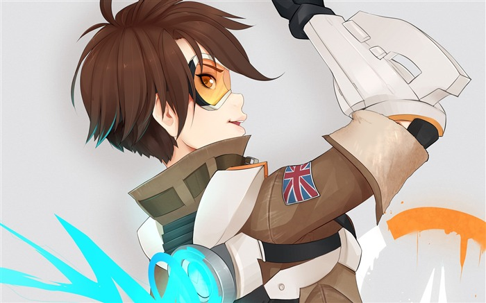 Overwatch Tracer 2016 Game HD Desktop Wallpaper 14 Views:1965