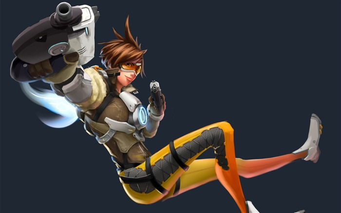 Overwatch Tracer 2016 Game HD Desktop Wallpaper 17 Views:2449
