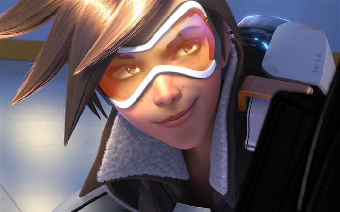 Overwatch Tracer 2016 Game HD Desktop Wallpaper 18 Views:1038