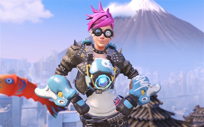 Overwatch Tracer 2016 Game HD Desktop Wallpaper 19 Views:1107