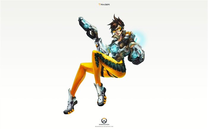 Overwatch Tracer 2016 Game HD Desktop Wallpaper 21 Views:1366