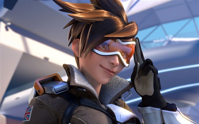 Overwatch Tracer 2016 Game HD Desktop Wallpaper 23 Views:2002