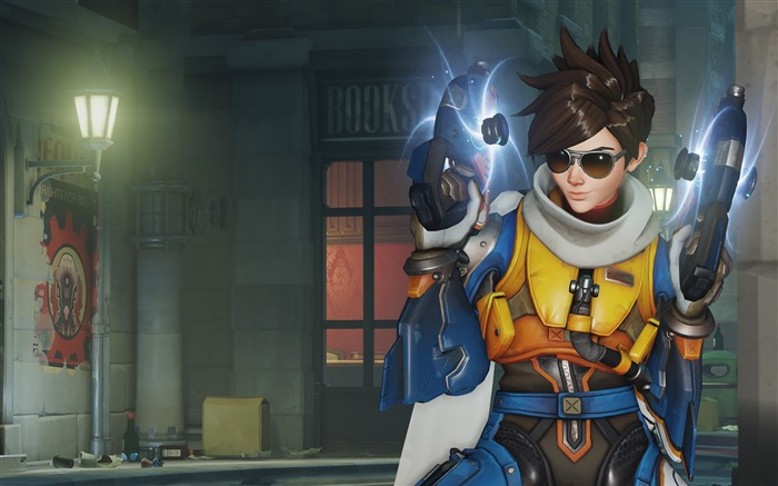 Overwatch Tracer 2016 Game HD Desktop Wallpaper 24 Views:1996