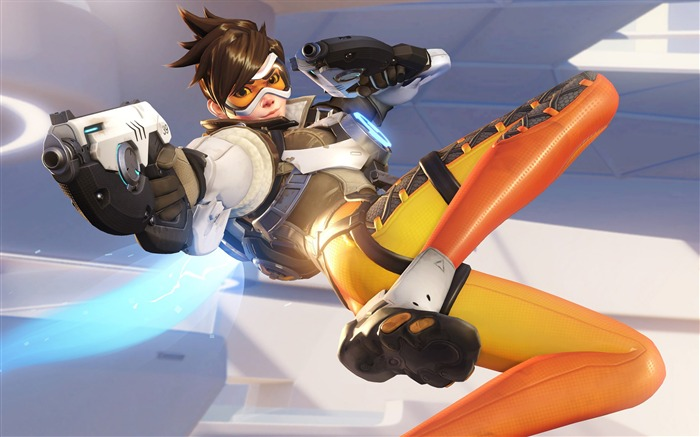 Overwatch Tracer 2016 Game HD Theme Desktop Wallpaper Views:9444