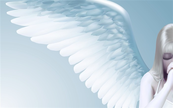 Praying angel-Vector Art Design HD Wallpaper Views:1094