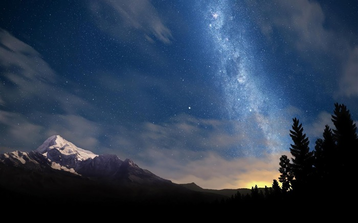 Starry night sky-HDR Photo HD Wallpaper Views:2535