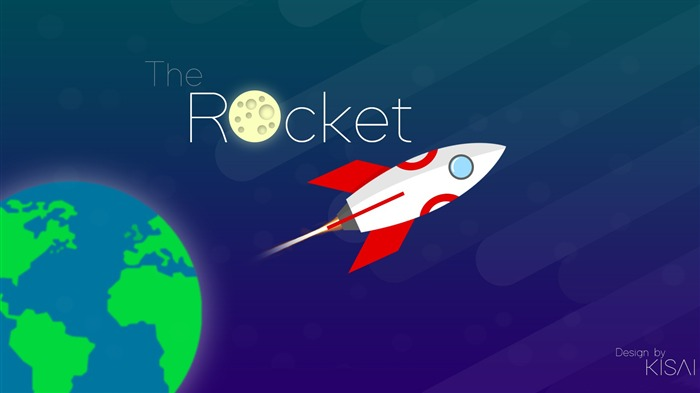 The rocket-Vector Art Design HD Wallpaper Views:683
