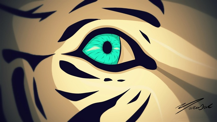Tiger eye-Vector Art Design HD Wallpaper Views:1184