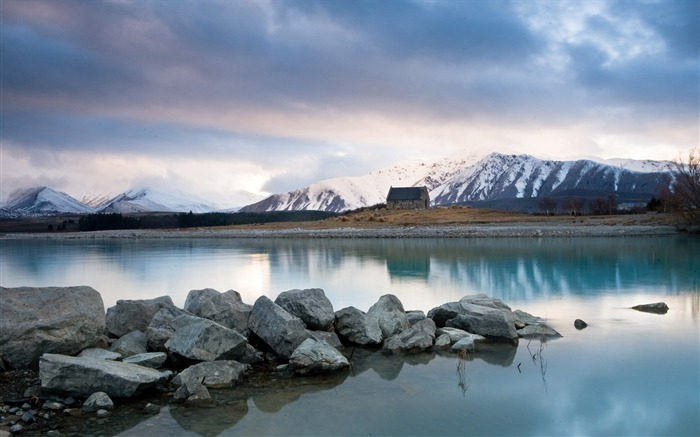 Winter lake tekapo-HDR Photo HD Wallpaper Views:1941