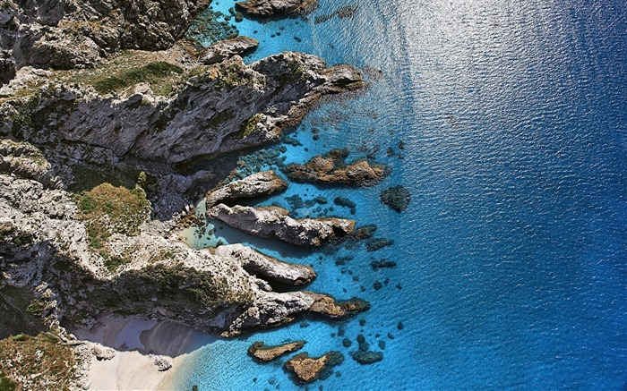 sunny shore aerial view capo vaticano italy-High Quality HD Wallpaper Views:704