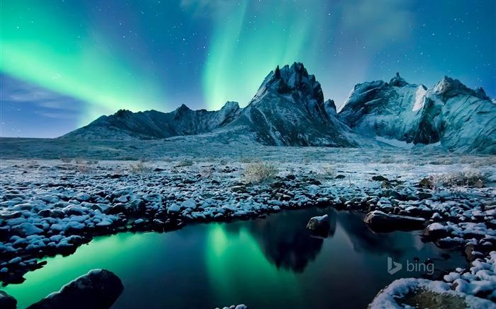 Aurora Borealis Yukon Canada 2016 Bing Desktop Wallpaper