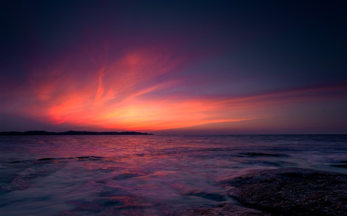 China coast landscape dusk HD wallpaper 03 Views:1662