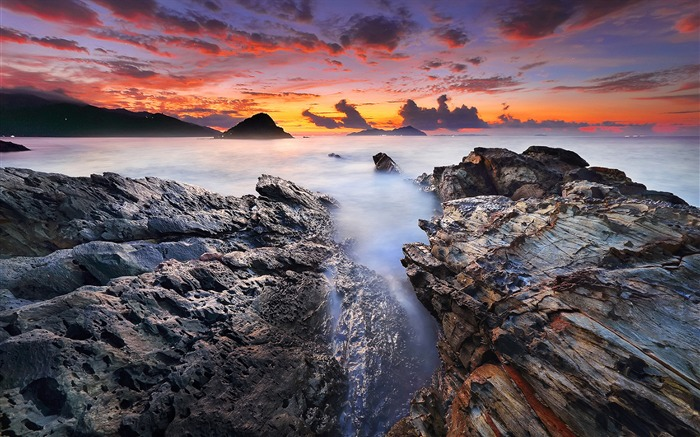China coast landscape dusk HD wallpaper 08 Views:1567