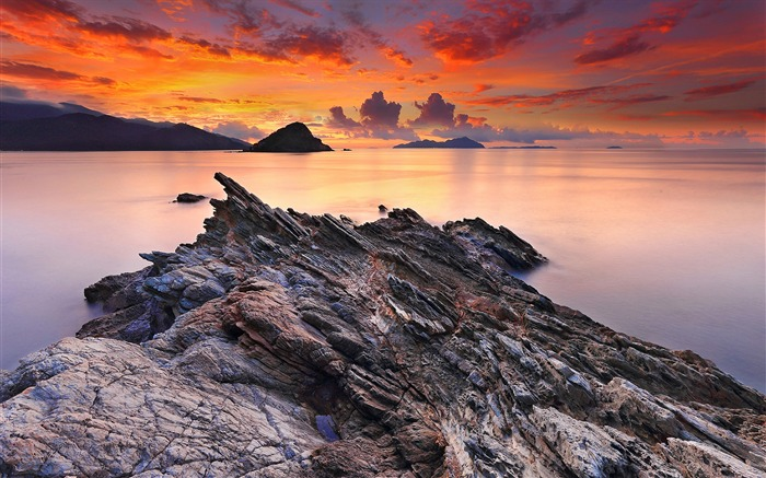 China coast landscape dusk HD wallpaper 09 Views:1365