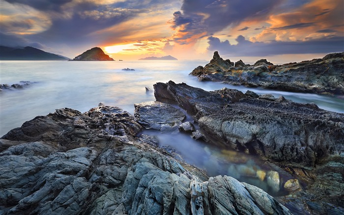 China coast landscape dusk HD wallpaper 10 Views:1709