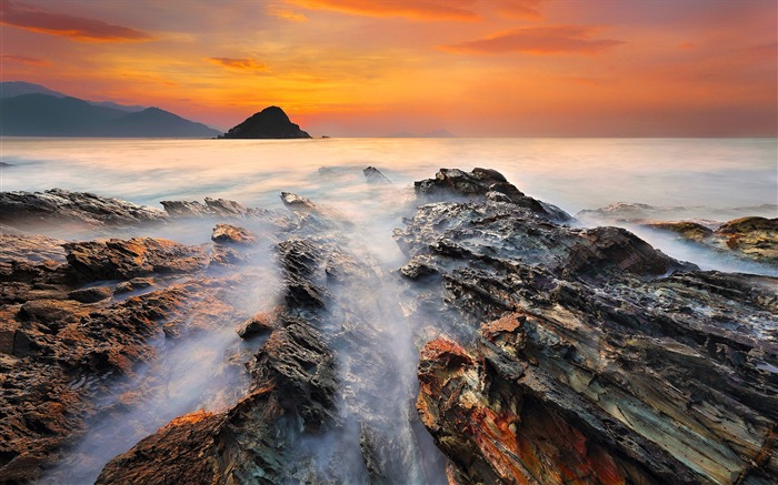 China coast landscape dusk HD wallpaper 11 Views:1625