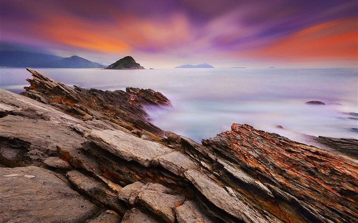 China coast landscape dusk HD wallpaper 15 Views:1796