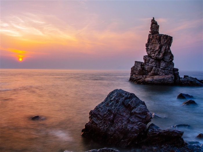 China coast landscape dusk HD wallpaper 18 Views:1036