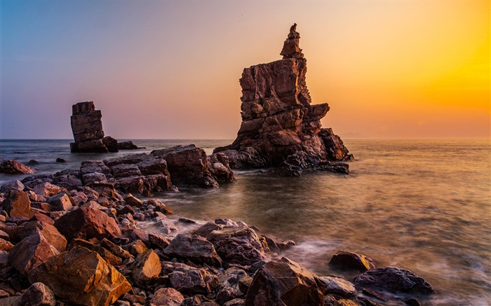 China coast landscape dusk HD wallpaper 19 Views:929