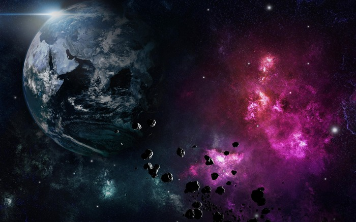 Earth planet nebula explosion-Expanse Space HD Wallpaper Views:2130