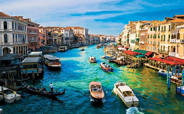 Grand canal city view-Venice Italy Travel HD wallpaper Views:2442