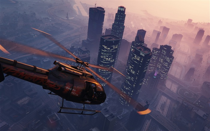Grand theft auto v gta 5 helicopter-Game Posters HD Wallpaper Views:2015