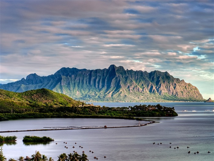 Heeia Fish Pond And Kualoa-Nature Scenery HD Wallpaper Views:1525