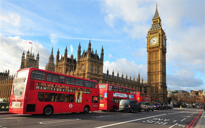 London Big Ben Westminster Abbey Bus-Cities Photo HD Wallpaper Views:2544