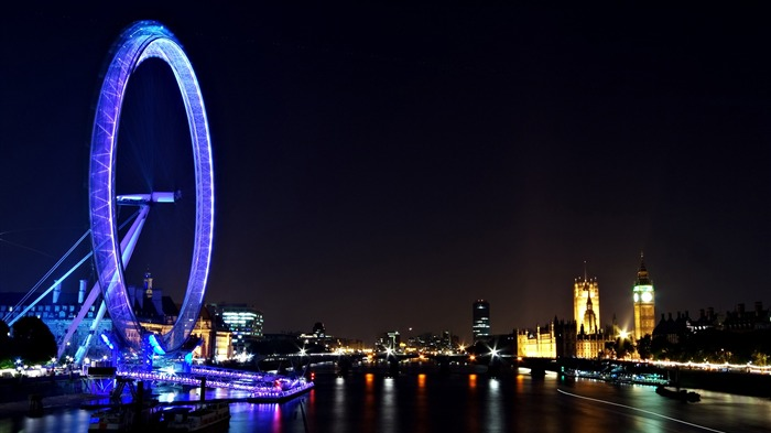 London Eye Night Travel-Cities Photo HD Wallpaper Views:1151