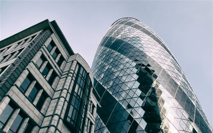 London Gherkin Building Skyscrapers-Cities Photo HD Wallpaper Views:2009