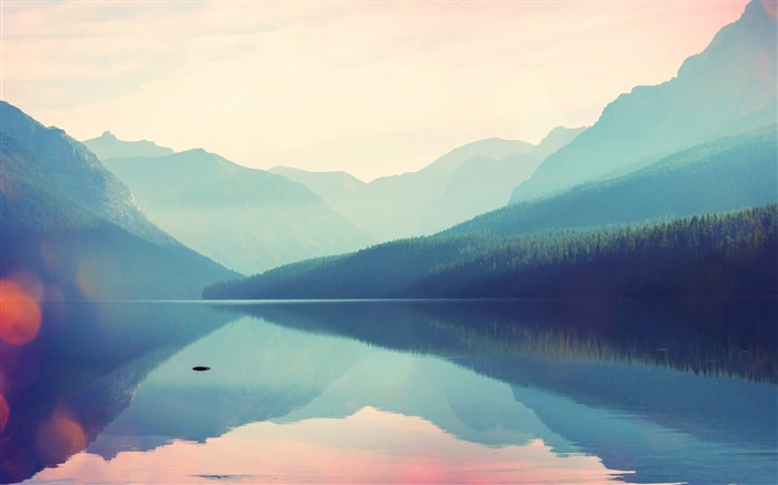 Mountains greatness silence lake-Widescreen High Quality Wallpaper Views:2707