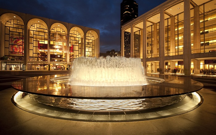 New York Lincoln Center Arts-Cities Photo HD Wallpaper Views:1467