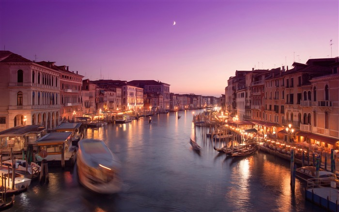 River Sunset View-Venice Italy Travel HD wallpaper Views:1358