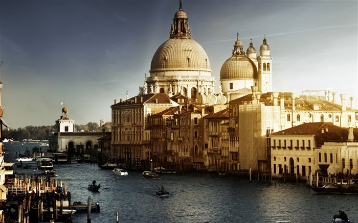 River building architecture stone-Venice Italy Travel HD wallpaper Views:654