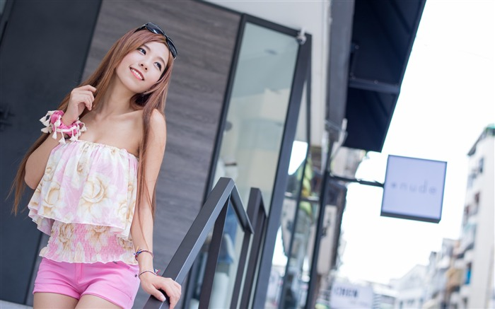Beauty asian girl smiling-Photo HD Wallpaper Views:2906