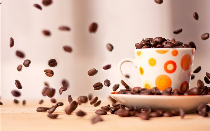 Coffee cup saucer close-up-High Quality HD Wallpaper Views:1285