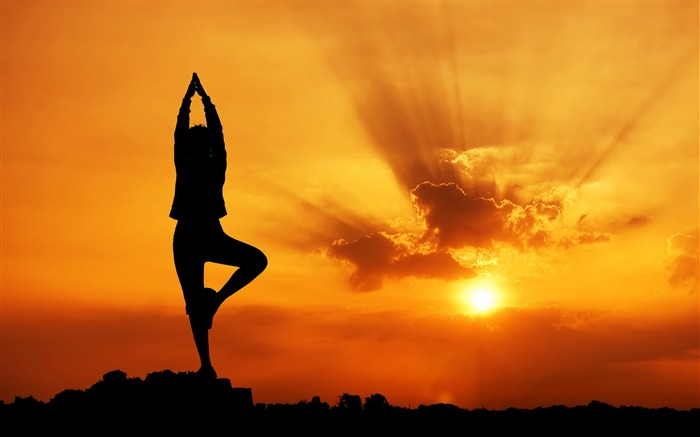 Evening Yoga beauty-2016 Sport HD Wallpaper Views:2209